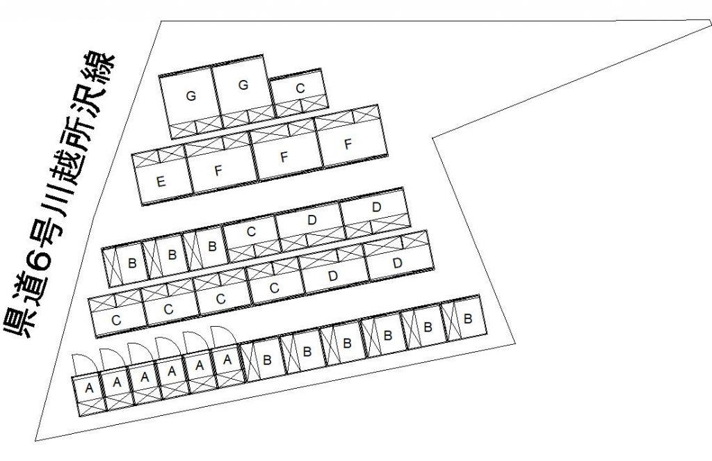 岸町トランクルーム配置図
